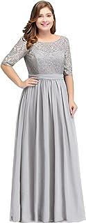 Women Plus Size Chiffon Evening Dresses Long Prom...
