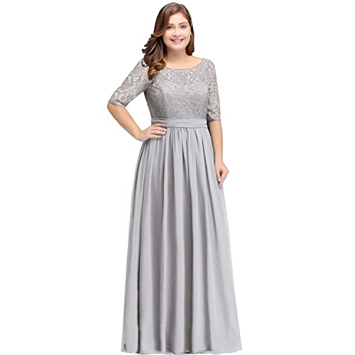 Plus Size Bridesmaid Dresses Silver: Amazon.com