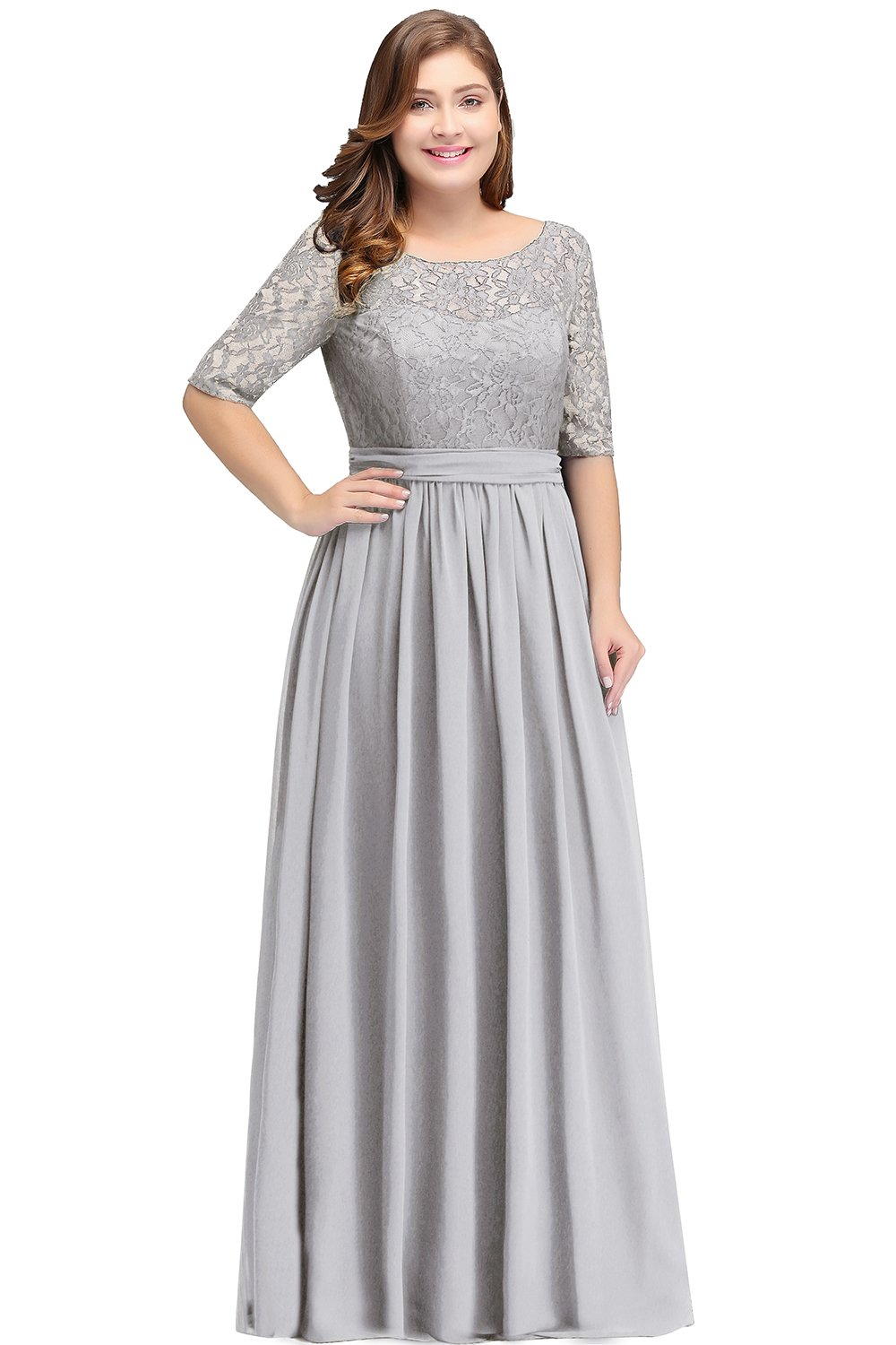 Mother Of The Bride Dresses - Women Plus Size Chiffon Evening Dresses Long Prom Bridesmaid Gown