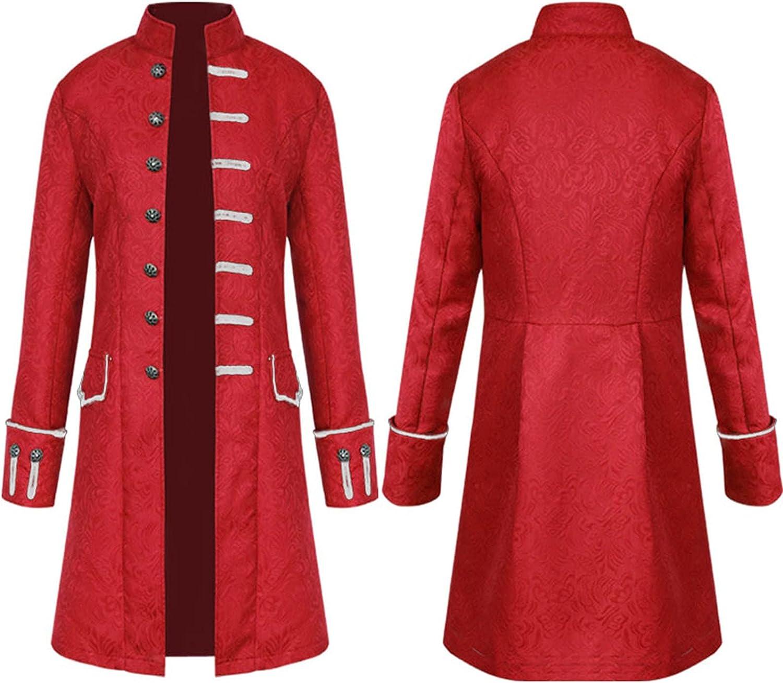WBLKD Men Medieval Steampunk Daily bargain sale Max 66% OFF Victorian Ha Gothic Jacket
