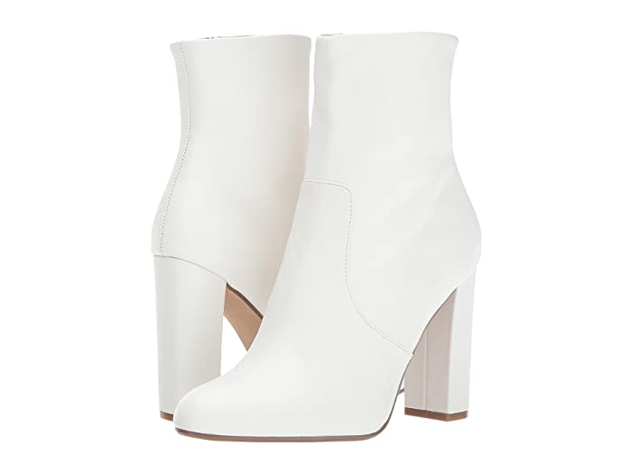Vintage Style Shoes, Vintage Inspired Shoes Steve Madden Editor Dress Bootie White Leather Womens Shoes $119.95 AT vintagedancer.com
