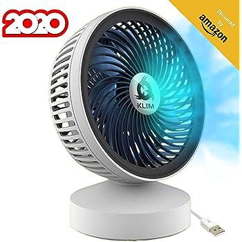 KLIM™ Breeze Ventilateur de Bureau USB Haute Performance Ventilo de Table Silencieux et Ajustable Blanc [ Nouveau 2020 ]