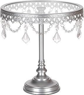 CAKESTAND Silver Round Metal Plated 2 Stöckig servierständer 2 levels
