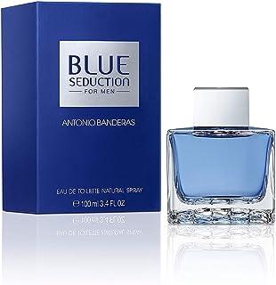 Antonio Banderas Perfumes - Blue Seduction - Eau de Toilette Spray for Men - Woody, Fresh Oriental, Aromatic Fougère Fragrance - 3.4 Fl Oz