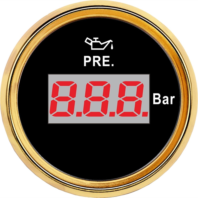 Waterproof Oil Pressure Gauge Safety and Sales for sale trust 5 Di Meters LCD