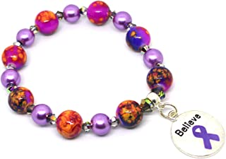 Migraine Awareness Bracelet - Pick your own charm