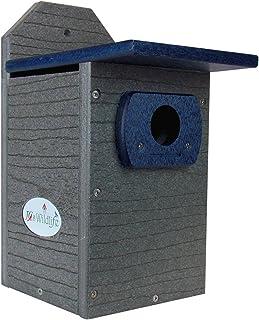 JCs Wildlife Recycled Poly Lumber Gray and Blue Standard Bluebird Bird House