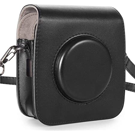 Case for Fujifilm Instax Square SQ10 Camera, EpicGadget Classic Vintage PU Leather Compact Case Bag with Adjustable Shoulder Strap for Fuji instax SQ10 (Black)