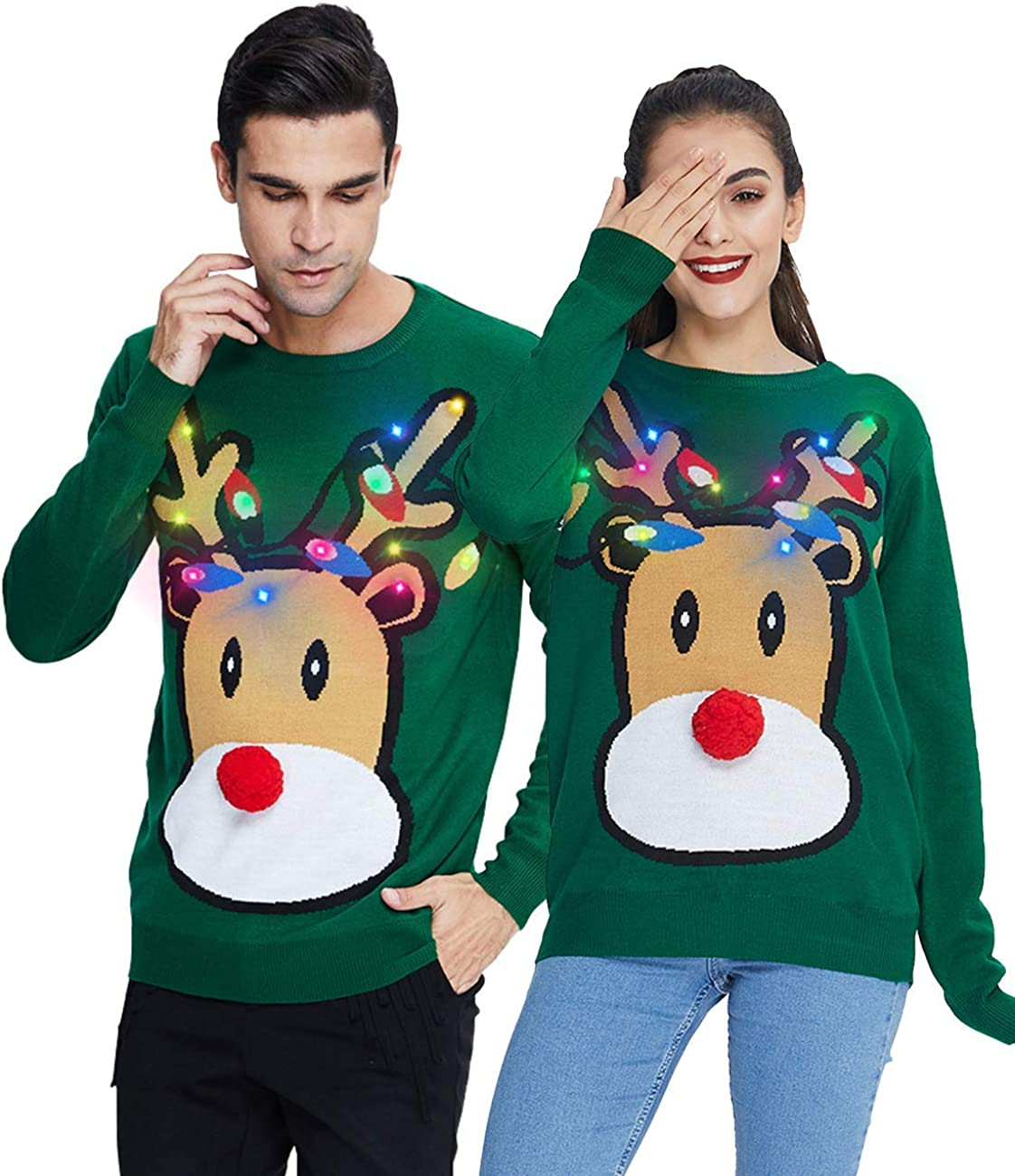 AIDEAONE Unisex Ugly Christmas Sweater Atlanta Mall Funny free Men Slee Long Women