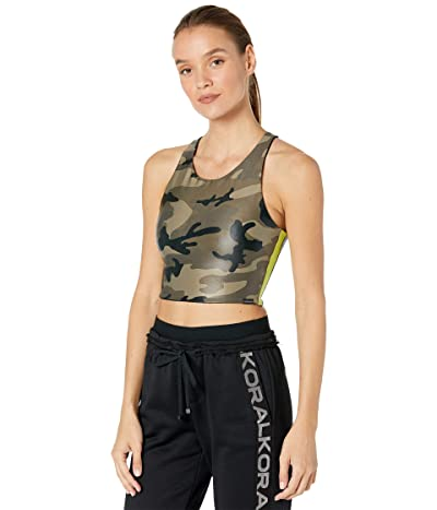 Koral Bruna Infinity Sports Bra (Camo/Lime) Women