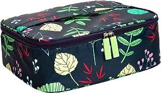 حقيبة مكياج محمولة للسفر لمستحضرات التجميل للنساء والفتيات، ومنظمات أدوات التجميل وتخزين إكسسوارات التجميل، سعة كبيرة