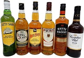 ウイスキー飲み比べ6本セット カティーサーク ロングジョン ホワイトホース マッカーサーズ ホワイトマッカイ カナディアンクラブ