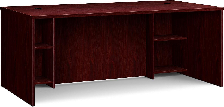 Basyx by HON BL Mahogany Laminate Office Furniture - EABreakfront Shell Desk, 72 x36 x30 , Mahogany