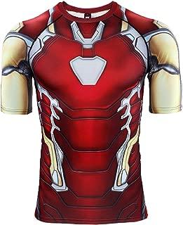 Endgame Iron Man Compression Shirt Short Sleeve Men's Gym Top