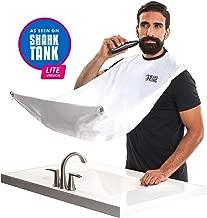 "BEARD KING - The Official Beard Bib - Hair Clippings Catcher & Grooming Cape Apron - ""As Seen on Shark Tank"" - White (Lite Version)"