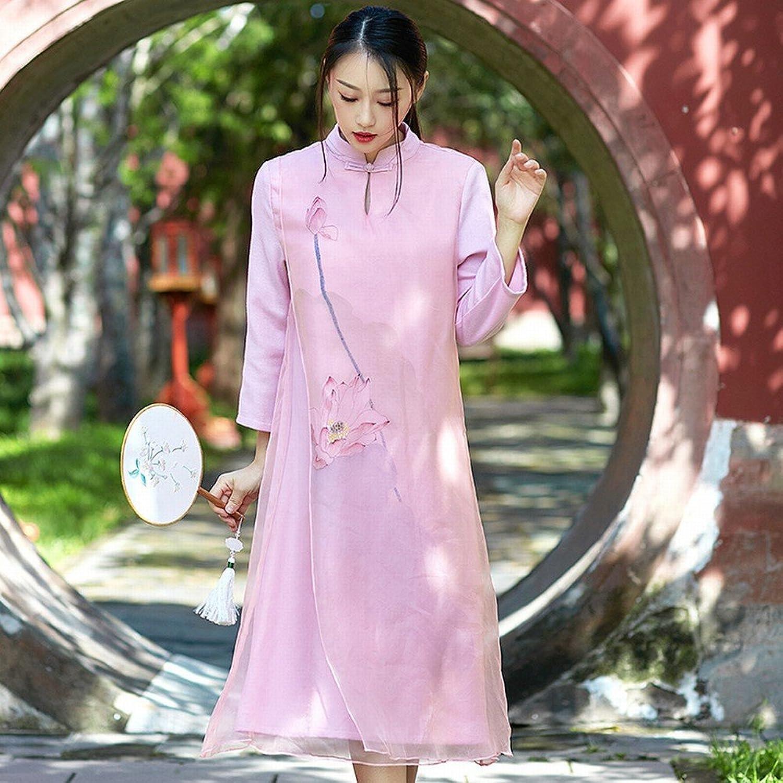 DEED HighEnd HandPainted Dress Silk Dress