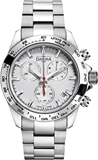 Davosa Swiss Brand Wrist Watch - Speedline Waterproof Quartz Analog Movement Stainless Steel Bracelet Watch for Men