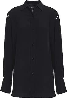 rag & bone Hana Silk Blouse, Black