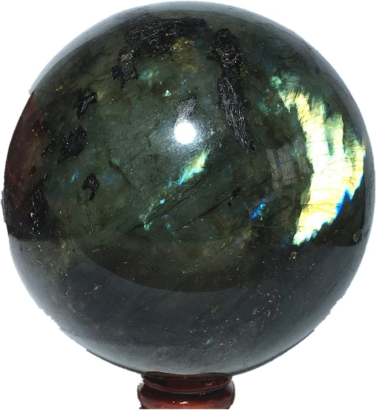 Hencik trend rank Stones Natural Sphere Labradorite Crystal Home Sale Quartz Fur