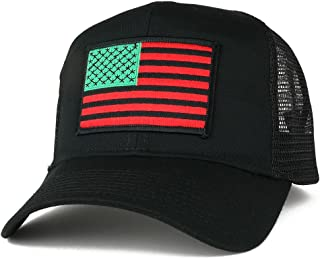 red black and green hats