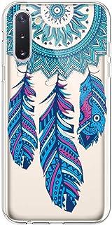 PHEZEN Galaxy Note 10 Case Cute Art Design Soft Flexible Crystal Clear TPU Silicone Rubber Case Slim Transparent TPU Bumper Cover Phone Case for Samsung Galaxy Note 10,Blue Dreamcatcher