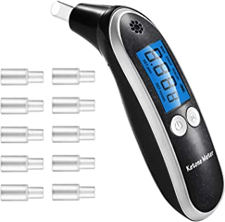Ketone Meter, Professional Portable Digital Ketone Breath Analyzer with 10 Mouthpieces for Personal Use