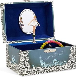 comprar comparacion Jewelkeeper - Caja de Música para Joyas, con Hada Estrellada Azul y Blanca - Melodía del Lago de los Cisnes