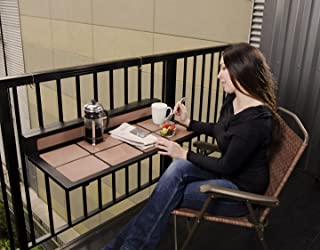 H.E. Nelson, Inc Tavolo Balcony Table Folding, Rail Mount