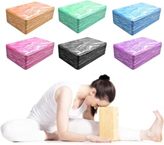ROSE IN THE BOX Yoga Block 2 Pack or 1 Piece Pilates Brick Foaming Yoga Pillow for Workout Training Gym Tool Sports Exercise