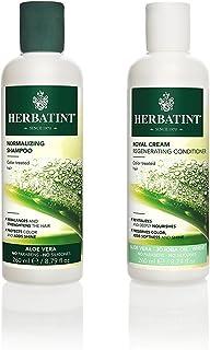 Herbatint Normalizing Shampoo and Royal Cream Conditioner Bundle With Aloe Vera, 8.79 fl oz