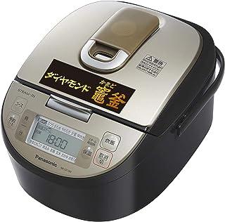 【Amazon.co.jp限定】パナソニック 炊飯器 5.5合 スチームIH式 ダイヤモンド竈釜 ブラック SR-SZ100-K