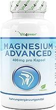 Vit4ever® Magnesium Advanced - 365 Kapseln - 665 mg je Kapsel davon von 400 mg elementares (reines) - 1 Jahresvorrat - Laborgeprüft - 100% Vegan - Hochdosiert - Ohne unerwünschte Zusätze