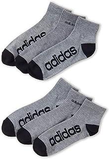 adidas, Climalite Calcetines deportivos de rendimiento con corte de cuarto de corte que absorben la humedad, talla 6-12, para hombre