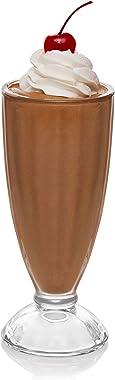 Libbey Fountain Shoppe, juego de 6 vasos largos para malteada