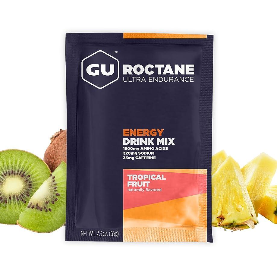 GU Energy Roctane Ultra Endurance Energy Drink Mix, Tropical Fruit, 10-Count Packets
