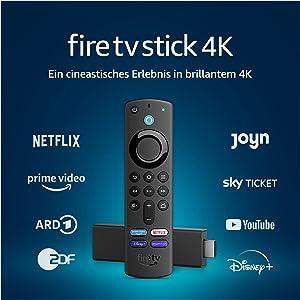 Fire TV Stick 4K mit Alexa-Sprachfernbedienung (mit TV-Steuerungstasten)