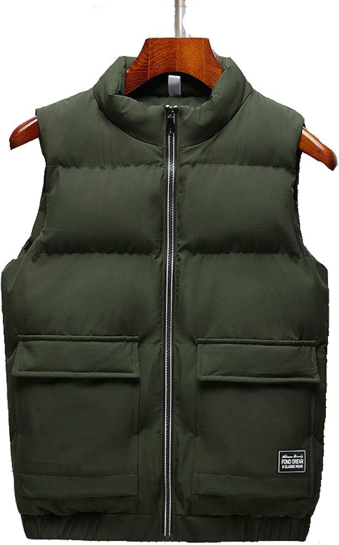 Men Packable Lightweight Puffer Vest Polyester Water-Resistant Waistcoat Outdoor Sports Sleeveless Jackets Gilet