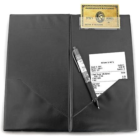 Black Restaurant Waitstaff Waiter Waitress Double Panel Server Checkbook Check Presenter Good Quality