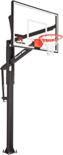 GoalrillaFT Series BasketballHoop with Tempered Glass Backboard, Black Anodized Frame, and In-ground Anchor System