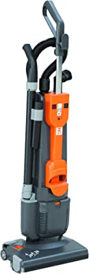"TASKI Jet 38 38-15"" Dry Dual Motor Upright Vacuum, Grey and Orange"