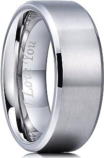 حلقه مات از جنس استنلس استیل King Will 4mm / 6mm / 8mm