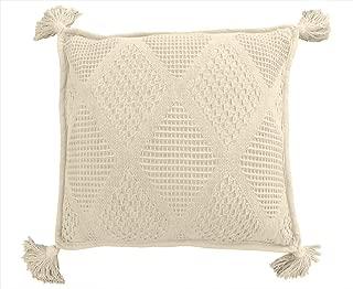 Whisper Organics *棉抱毯 G.O.T.S. 认证 - 钻石图案 天然 Throw Pillow Cover We offer a 90-day satisfaction guarantee