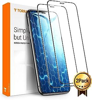 TORRAS iPhone 11 pro/Xs/X 用ガラスフィルム 5.8インチ【2枚セット】【ガイド枠・気泡除去ヘラ付き】2020年進化版 SGS認証 全面保護 日本製9H強化ガラス保護フィルム 高透過率 耐衝撃(アイフォンX/Xs/11pro用)
