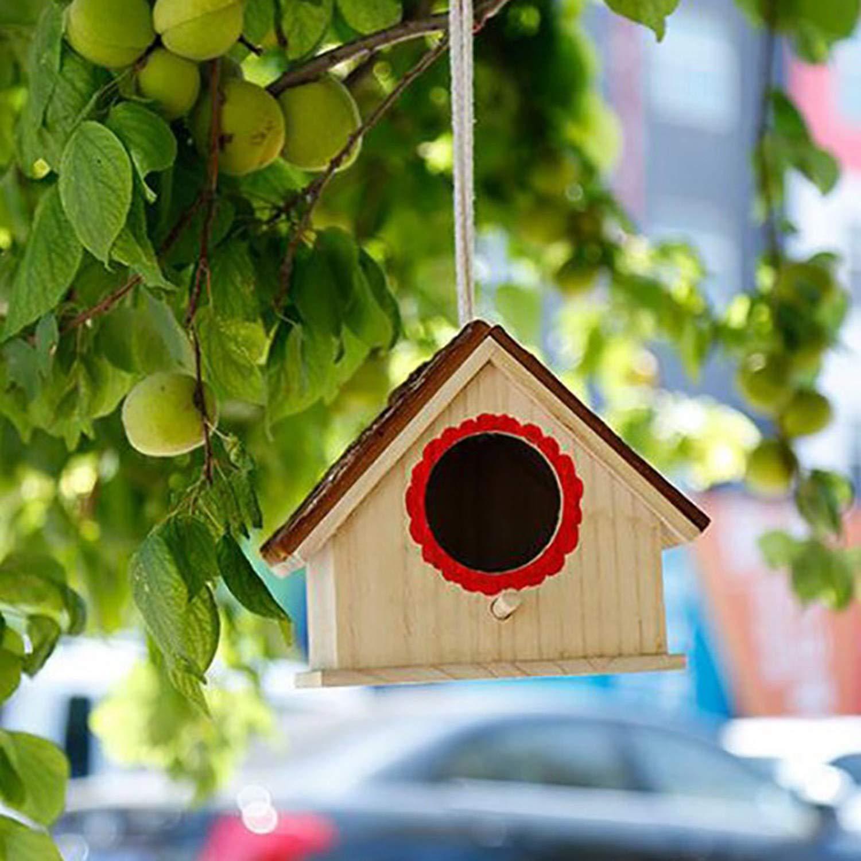 Gaoominy Pajareras de Madera Cedro Natural Anidado al Aire Libre Jardín Colgante Patio Decorativo para Paloma/Finch/WREN/Robin/Cedarand/Sparrow Peque?o Animal: Amazon.es: Productos para mascotas