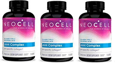 Neocell Collagen Type 2 Immucell Complete Joint Support Capsules, 2400 Mg, 3 Pack (120 Count Each)