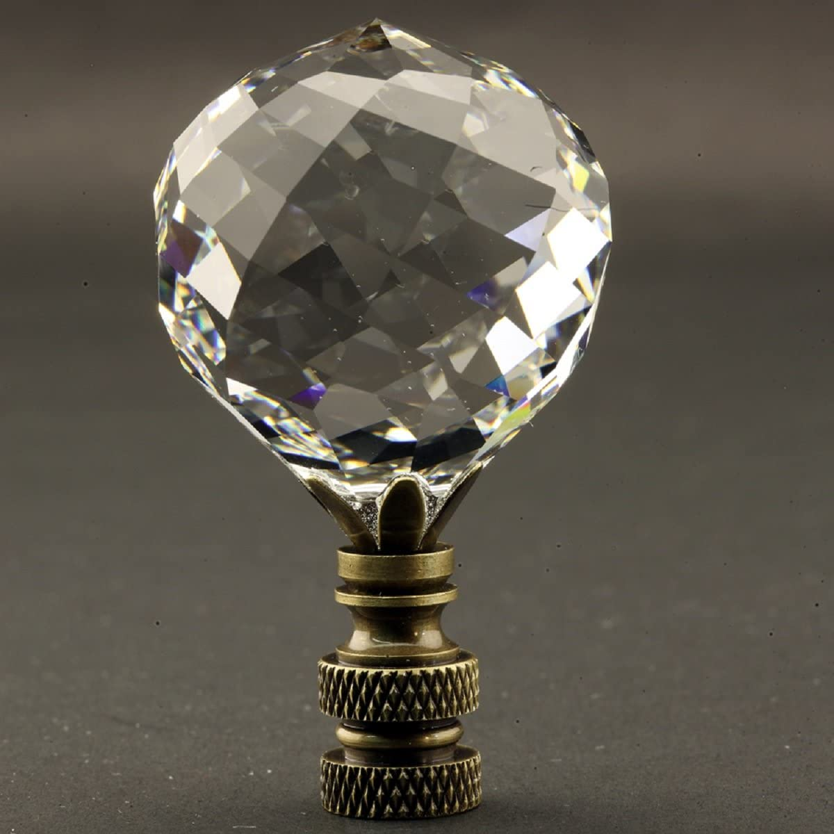 Swarovski Crystal Ranking TOP1 Faceted Ranking TOP10 Ball 40MM with Lamp ant Finial 1.57