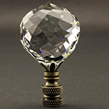 Swarovski Strass LAMP FINIAL Choice 5 Metal Finishes 40mm Crystal Clear Ball
