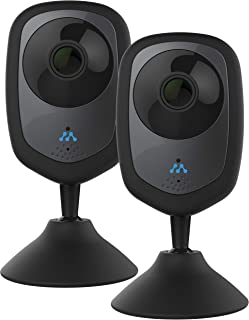 Momentum HD Wireless Indoor Home Security Camera with 2-Way Audio, Night Vision, Pet Monitor for iOS & Android (2 Pack) (Renewed)
