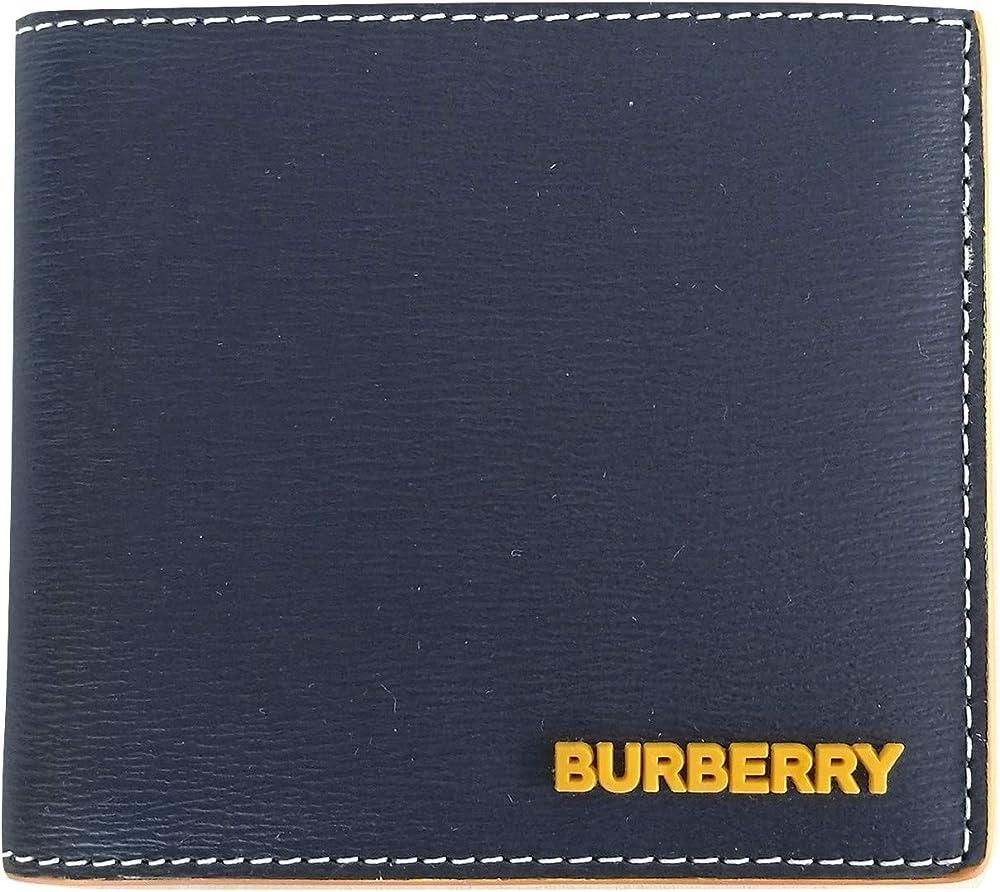 Burberry, portafoglio da uomo a libro con portamonete,in pelle 8032485
