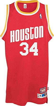 Outerstuff Hakeem Olajuwon Houston Rockets Red #34 Youth Throwback Soul Swingman Jersey